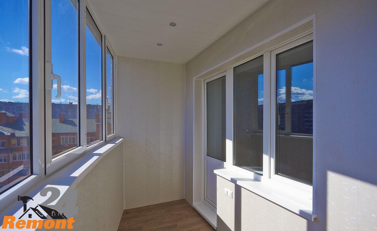 Отделка балкона и лоджии панелями мдф окнапвх-24.